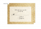 Glitter Ombre Wedding Suite Response Card