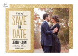 Glitter Ombre Wedding Suite Save the Date
