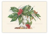 Nandina and Magnolia Christmas Card
