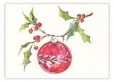 Hung on Holly Greeted Christmas Card