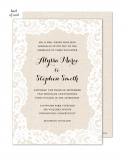 Linen Lace Wedding Suite Invitation