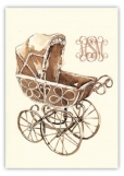Wicker Pram Folded Note Card
