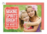 Bright Holiday Photo Card