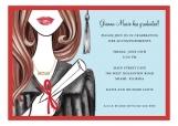 Glamorous Grad - Brunette Invitation