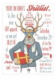 Hipster Reindeer Santas Shitlist