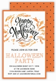 Handpainted Halloween Invitation