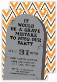 Tombstone Halloween Invitation