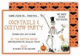 Tipsy Skeleton Halloween Invitation