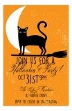 Black Cat Halloween Invitation