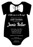 Black Tux Onesie Invitation