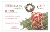 Crandberry Old Fashion Christmas Cocktail Party Invitation
