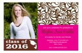 Graduate Garden Pink Photo Card