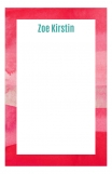 Watercolor Reds Custom Notepad