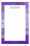 Watercolor Purples Cute Custom Notepad