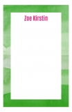 Watercolor Greens Cute Custom Notepad