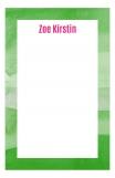 Watercolor Greens Cute Custom Notepad