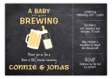 Chalkboard Baby is Brewing Shower Invitation