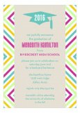 Bright Graphic Graduation Announcement Cards