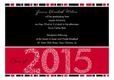 Red Graduation Year Invitation
