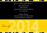 Yellow Graduation Year Invitation