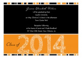 Orange Graduation Year Invitation