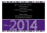 Purple Graduation Year Invitation