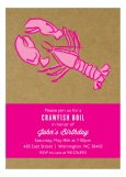Kraft Pink Crawfish Boil Invitation