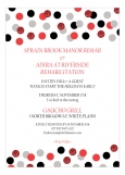 Red Glitter Confetti Invitation