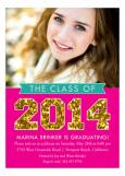 Glitter Graduate Photo Card