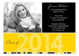 Yellow Graduation Year Photo Card
