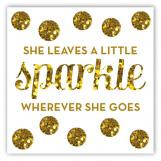 Sparkle Party Square Sticker