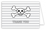 Skull and Crossbones Note Card
