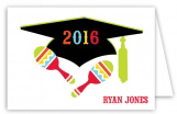 Fiesta Grad Folded Note Card