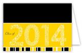 Yellow Graduation Year Folded Note Card