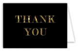Black Glitter Thank You Card
