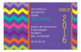 Purple Chevron Invitation