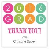 Grad Caps and Diplomas Tutti Square Sticker