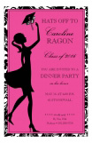 Pink Hat Toss Invitation