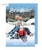 Snowy Holiday Photo Card