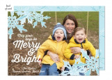 Snowflake Joy Photo Card