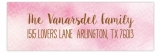 Purple Pink Faded Light Label