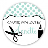 Aqua Polkadot Craft Sticker