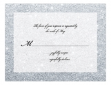 Silver Glitter Ombre Wedding Suite Response Card