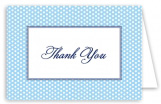 Blue Polka Dots Thank You Card