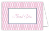 Pink Polka Dots Thank You Card