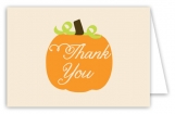 Fall Pumpkin Folded Thank You Card
