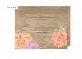 Wood Floral Wedding Suite Response Card