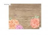Wood Floral Wedding Suite Response Card
