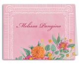 Wildflower Wedding Thank You Note