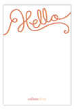 A Big Hello Flat Note Card